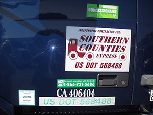 Southern Counties sticker
