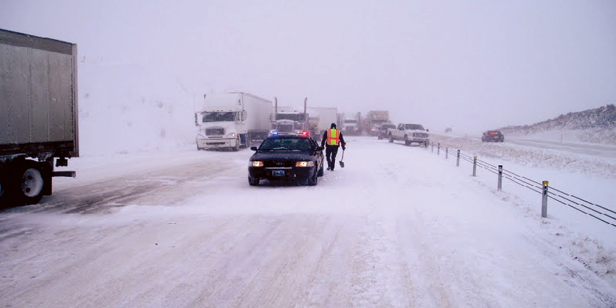 Winter in Wyoming on Interstate 80