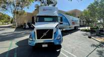 Volvo electric truck making Albertsons grocery delivery