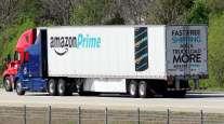 Amazon Prime truck on highway