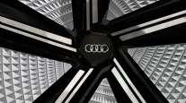 Audi logo closeup
