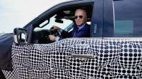 President Biden takes the electric Ford F-150 for a test drive