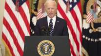 President Joe Biden holds his first press conference