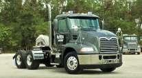 A Patriot Transportation's Florida Rock & Tank Lines truck.