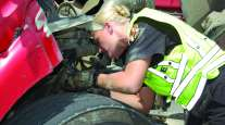 Truck brake inspection