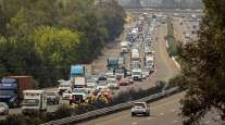 Traffic on Interstate 80 in Fairfield, Calif.
