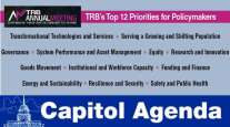 Graphic of TRB's Top 12 issues for policymakers 2019