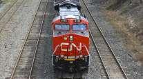 A Canadian National Railway locomotive