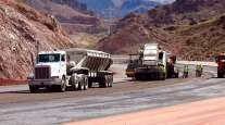 Road construction near Las Vegas