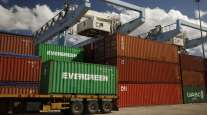 Shipping containers sit at the Port of Haifa in Israel on Nov. 5.