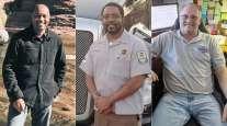 Reggie Barrows, Charlton Paul Jr. and Rich Miller