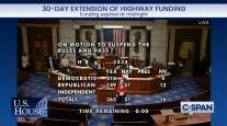 House vote on extension of highway funding