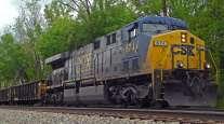 CSX railroad train