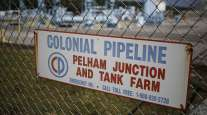 Signage at the Colonial Pipeline Co. in Pelham, Ala.