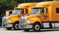 Bulldog Hiway Express trucks in Charleston, S,C.