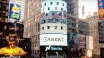 Daseke mentioned on a Times Square billboard