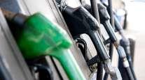 Close-up of diesel pumps
