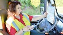 Female truck driver for A. Duie Pyle