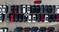 GM cars on sales lot