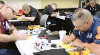 Technicians take exam at 2018 SuperTech competition