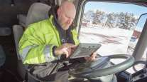 Truck driver uses ELD