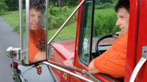 Mark Fidrych in his dump truck, 2006