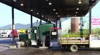 Trucks at fuel station