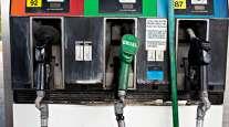Fuel pumps at a filling station