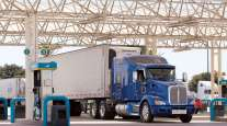 Truck fueling at a truck stop