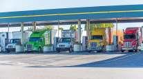 Trucks fuel up