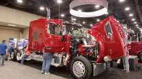 A Peterbilt on display at the Fitzgerald Glider Kits booth