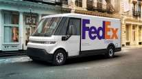 GM's EV600 electric van is already being tested with FedEx, representatives said. (General Motors via AP)