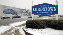 Cruze banner at Lordstown