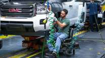 A General Motors Wentzville Assembly employee at work