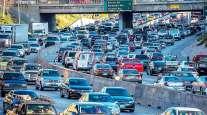 Heavy traffic on Los Angeles highway