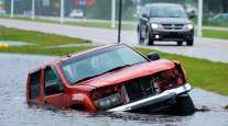 Truck floating/Hurricane Ida