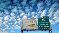 Iowa highway sign