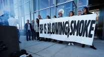 Activists demonstrate outside BP headquarters in Denver on Nov. 14, 2018