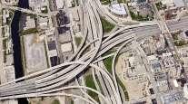 Overhead highway view