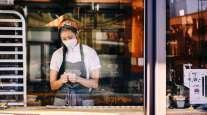 A worker preps food at a restaurant in downtown Memphis, Tenn. (Nina Westervelt/Bloomberg News)