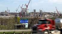 Petrochemical plant under construction