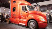 Navistar's International LT truck on display at the 2017 NACV.