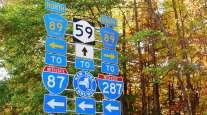 New York highway signs
