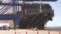 Triton, the largest cargo ship to visit the Port of Baltimore