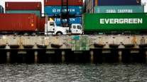 port-LA-trucks-containers-water