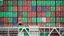 Containers at Port of Los Angeles