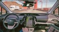 Interior of Pronto autonomous car