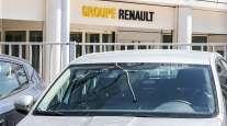 Police car at Renault HQ