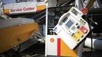 Damaged Shell station