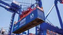 Container unloaded at the Port of Los Angeles
